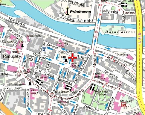Euro-servis mapa